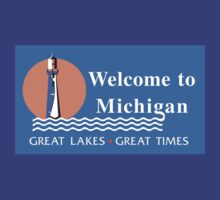 Welcome to Michigan, Road Sign by worldofsigns
