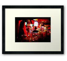 Night club table Framed Print