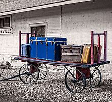 The baggage cart - selective colour by PhotosByHealy