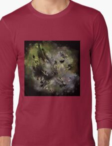 Castle in Space - Abstract CG Long Sleeve T-Shirt