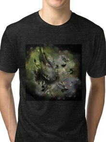 Castle in Space - Abstract CG Tri-blend T-Shirt