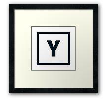 "Alphabet ""Y"" Framed Print"