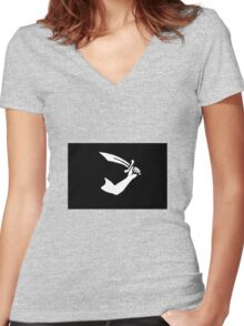 Pirate Flag - Thomas Tew Women's Fitted V-Neck T-Shirt