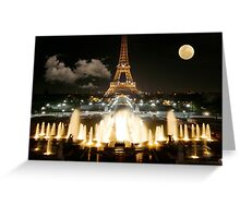 Eiffel Tower at Night Greeting Card