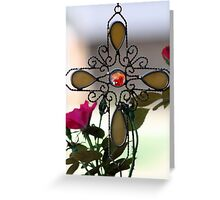 Cross and Roses Greeting Card