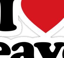 I Love Heart Beaver Sticker Sticker