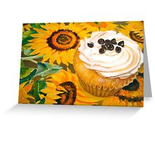 Cupcakes and Sunflowers... Greeting Card