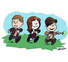 Eleventh Doctor and the Ponds ... Peanuts Style Photographic Print