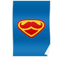 Moustached Superman Poster