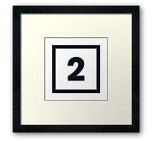 "Alphabet ""2"" Framed Print"