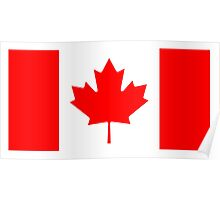 CANADA, CANADIAN, Canadian Flag, Canada Flag, Pure & Simple, National Flag of Canada, 'A Mari Usque Ad Mare' Poster