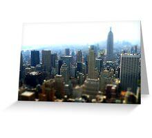 New York Tilt-shift Greeting Card