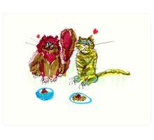 Love Cats (Two) Art Print