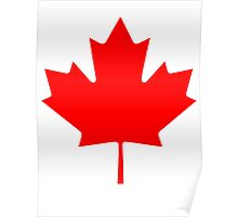 "CANADA, CANADIAN, MAPLE LEAF, Pure & Simple, Canadian Flag, National Flag of Canada, ""A Mari Usque Ad Mare"" Poster"