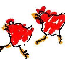 Kickin' Chickens by Suzy Woodall