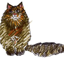 Big Brown Cat by Suzy Woodall