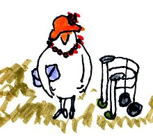 Old Chicken Lady by Suzy Woodall