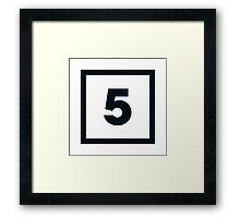 "Alphabet ""5"" Framed Print"
