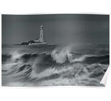 Whitley Bay Lighthouse Poster
