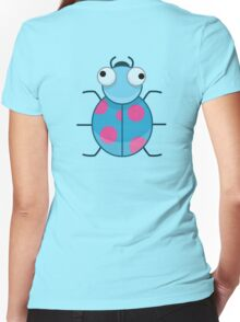 Funny Colorful Cute Little Bug Women's Fitted V-Neck T-Shirt
