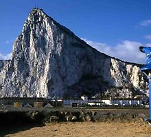 A Good View of the Rock of Gibraltar by Dennis Melling