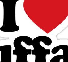I Love Heart Buffalo Sticker Sticker