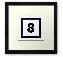 "Alphabet ""8"" Framed Print"