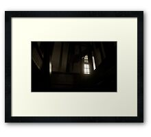the scene upstairs as seen from downstairs Framed Print