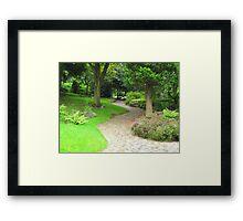 A Garden Pathway  Framed Print