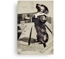 Yoga Dog Holds the Pose Canvas Print