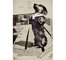 Yoga Dog Holds the Pose Photographic Print