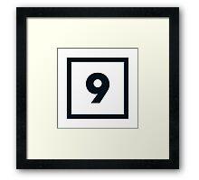 "Alphabet ""9"" Framed Print"