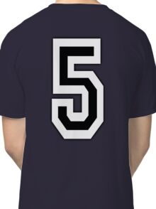 5, TEAM SPORTS, NUMBER 5, FIFTH, FIVE, Competition, Classic T-Shirt