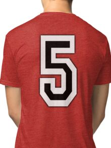 5, TEAM SPORTS, NUMBER 5, FIFTH, FIVE, Competition, Tri-blend T-Shirt