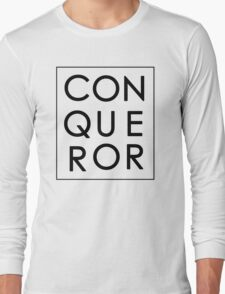 More than Conquerors - Black on White Long Sleeve T-Shirt