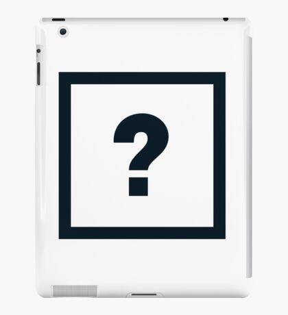 "Alphabet ""?"" iPad Case/Skin"