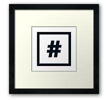 "Alphabet ""#"" Framed Print"