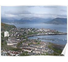 View of Gourock From lyle hill Greenock Poster