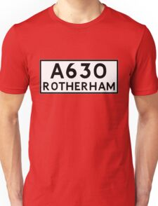 Rotherham (Old sign/ pre-Worboys style) Unisex T-Shirt