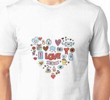 Cute love symbols Unisex T-Shirt