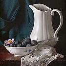 White Pitcher & Plums by Rachel Slepekis