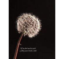 You Dont Need To Catch A Falling Star To Make A Wish Photographic Print