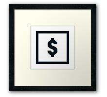 "Alphabet ""$"" Framed Print"