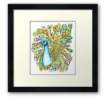 Funky Peacock Framed Print