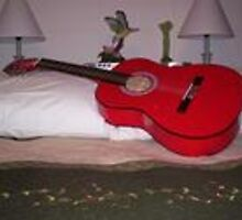 My Red Guitar by lvrofcolor
