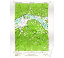USGS Topo Map Oregon Clatskanie 282345 1952 62500 Poster