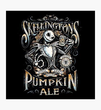 Skellingtons Pumpkin Royal Craft Ale Photographic Print
