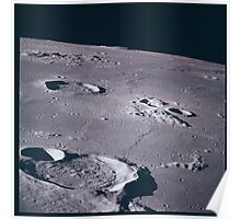Apollo Archive 0054 Moon Craters from Orbit Poster