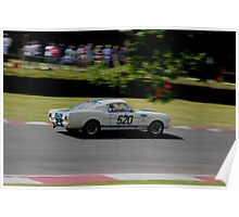 classic mustang at brands hatch Poster