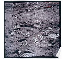 Apollo Archive 0138 Moon Footprints on Lunar Surface Poster